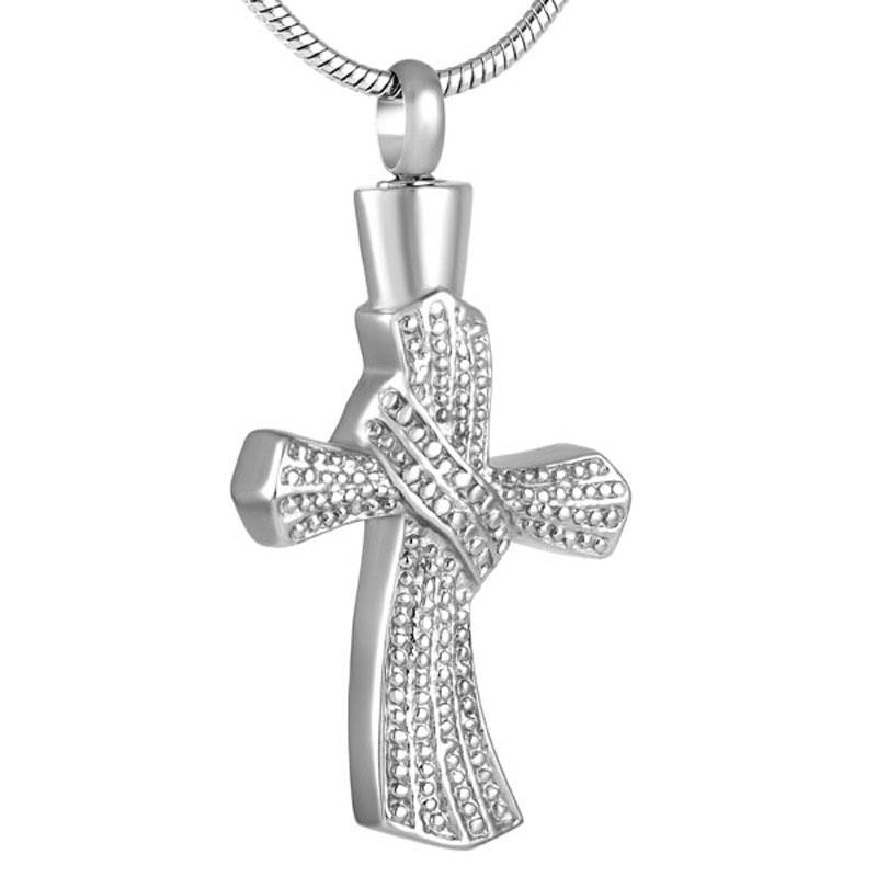 couleur personnalisée croix pendentif collier pour Ashes Urn Bijoux Souvenir religieux Ashes Collier Médaillon