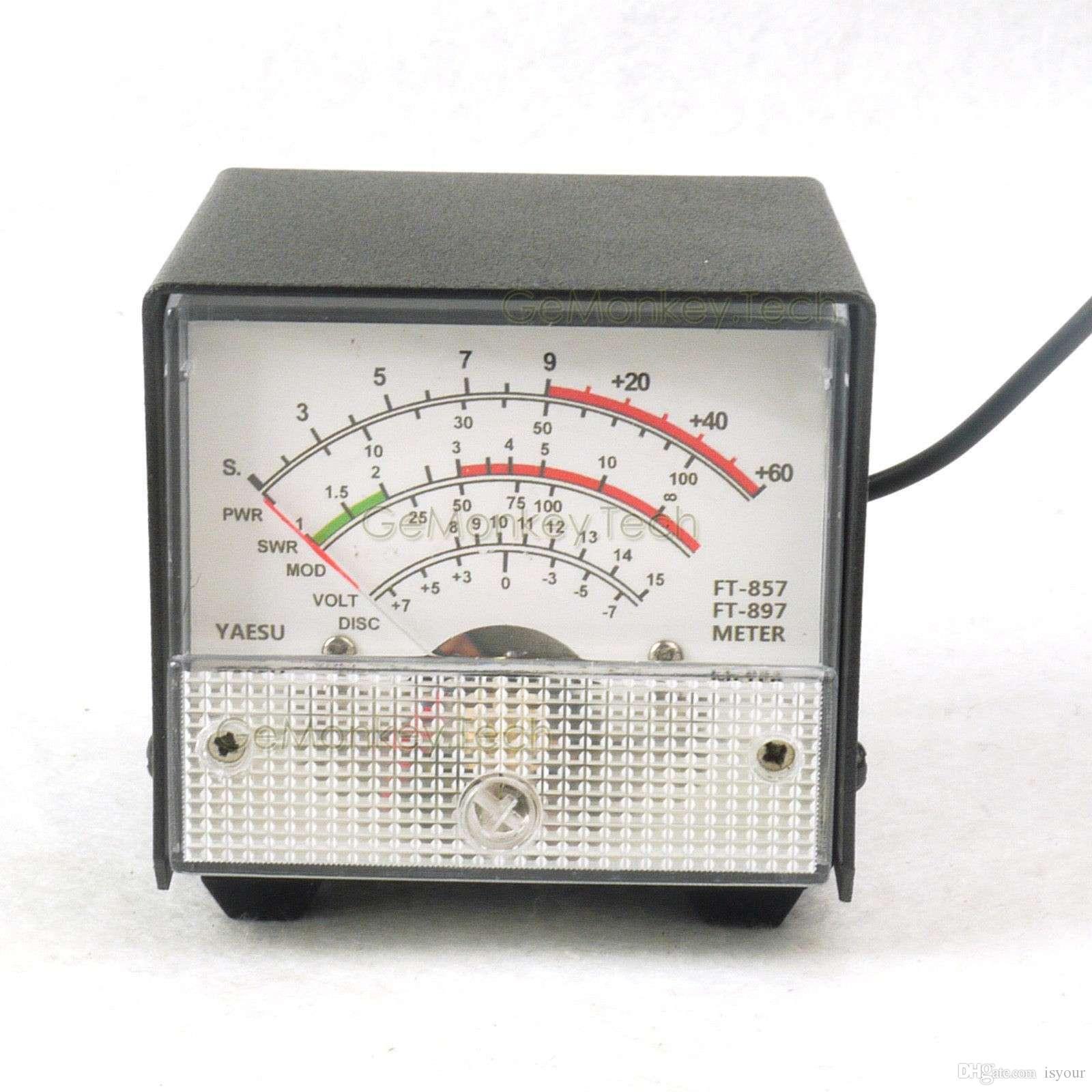 Freeshipping External S meter/ SWR / Power Meter Receive display meter For Yaesu FT-857/FT-897 standing wave ratio meter white