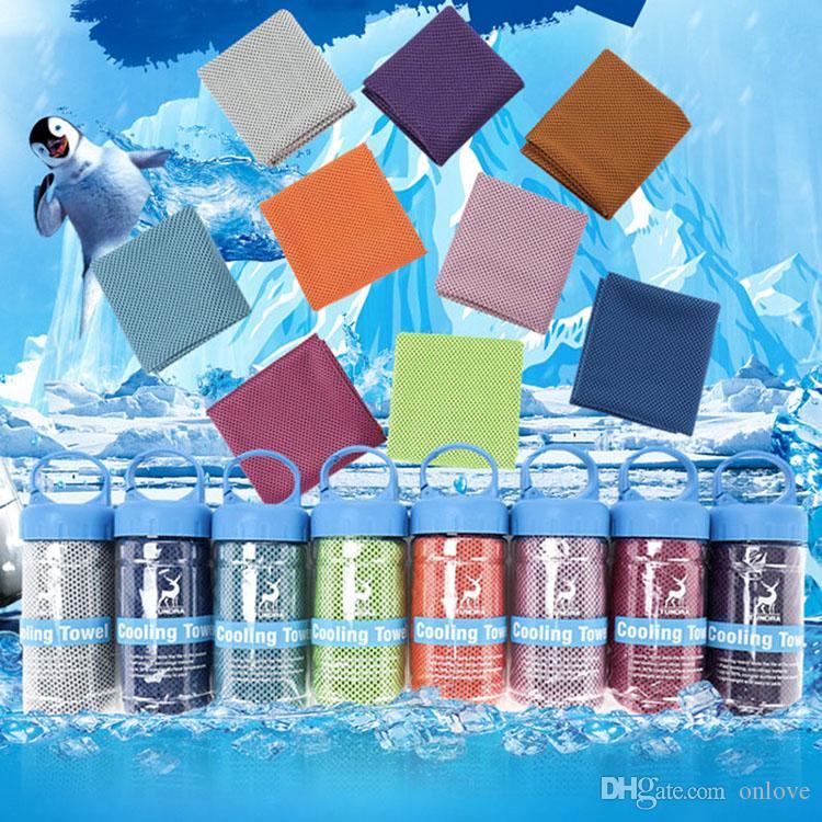 مزدوج الجليد الباردة منشفة العرق امتصاص المناشف الجري اليوغا جاف سريعة لينة منشفة تنفس أن العرف شعار XD21649
