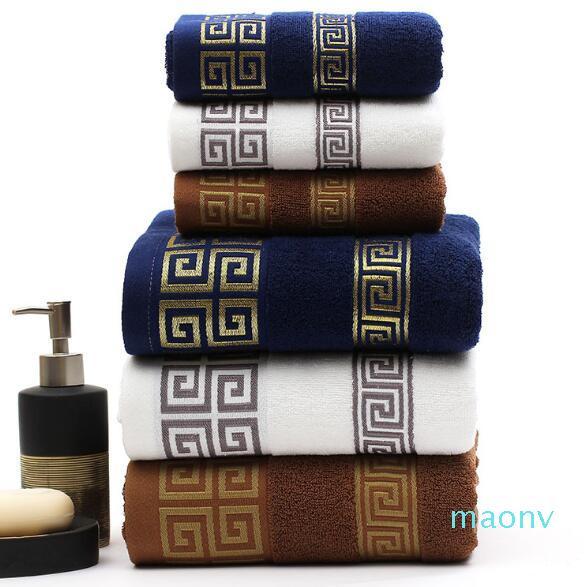 Мягкие банные полотенца Большие абсорбирующие Ванна Пляж Лицо Хлопотажное полотенце Домашняя Ванная комната Отель для взрослых детей