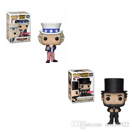 NEW!! Funko POP Abraham Lincoln Vinyl Action Figures brinquedos Collection Model Toys