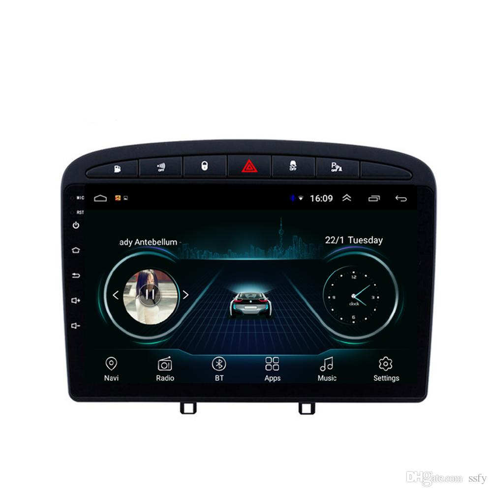 Android car mp3 mp4 player excellent bluetooth Resolution HD1080 front camera free map fast delivery for peugeot 308 B 9inch