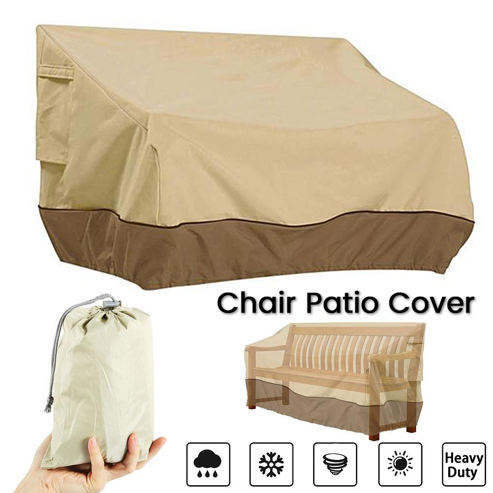 Patio Furniture Cover Outdoor Yard Garden Chair Sofa Waterproof Dust Cover Sun Protection Oxford Cloth Foldable Drawstring Table T190915