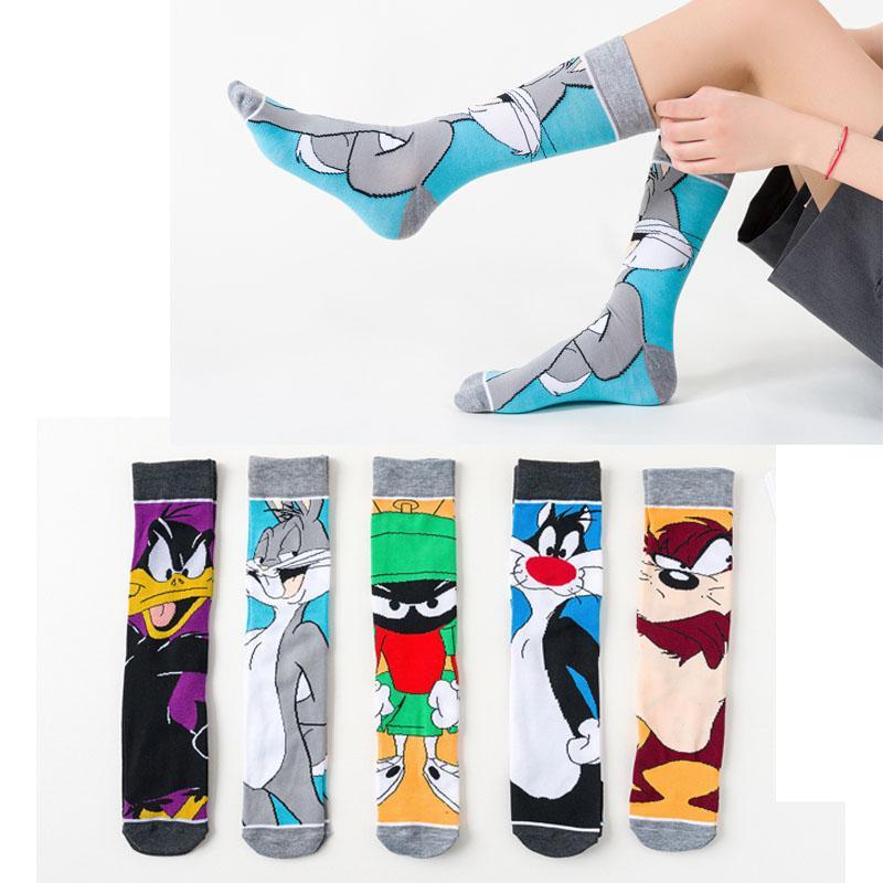 2020 Funny cartoon anime Druck Socken Ente Art und Weise personifizierte Neuheit Männer Frauen Komfort atmungs blau grau Baumwollsocke