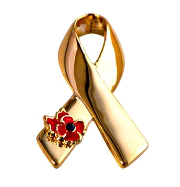 Prata / Presentes banhado a ouro fita Poppy Broche Pin UK Remembrance emblema Dia