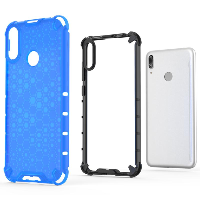 Ultra Slim Carbon Fiber Texture Matte Case for Huawei Y7 2019 Soft Anti-knock Anti-fingerprint Cover Bumper Case