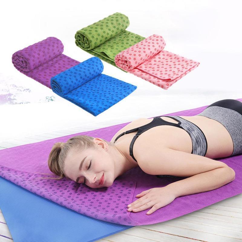 183 * 63 centímetros Algodão Yoga toalha cobertores macios curso de desporto fitness exercício Yoga Pilates Mat Capa Blanket Toalha antideslizantes Sports