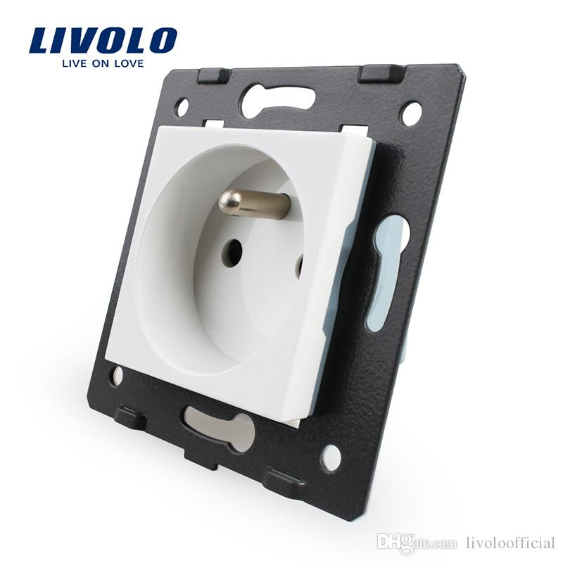 LIVOLO Manufacturer, Livolo White Plastic Materials, FR standard, Function Key For French Socket,Without Glass Panel
