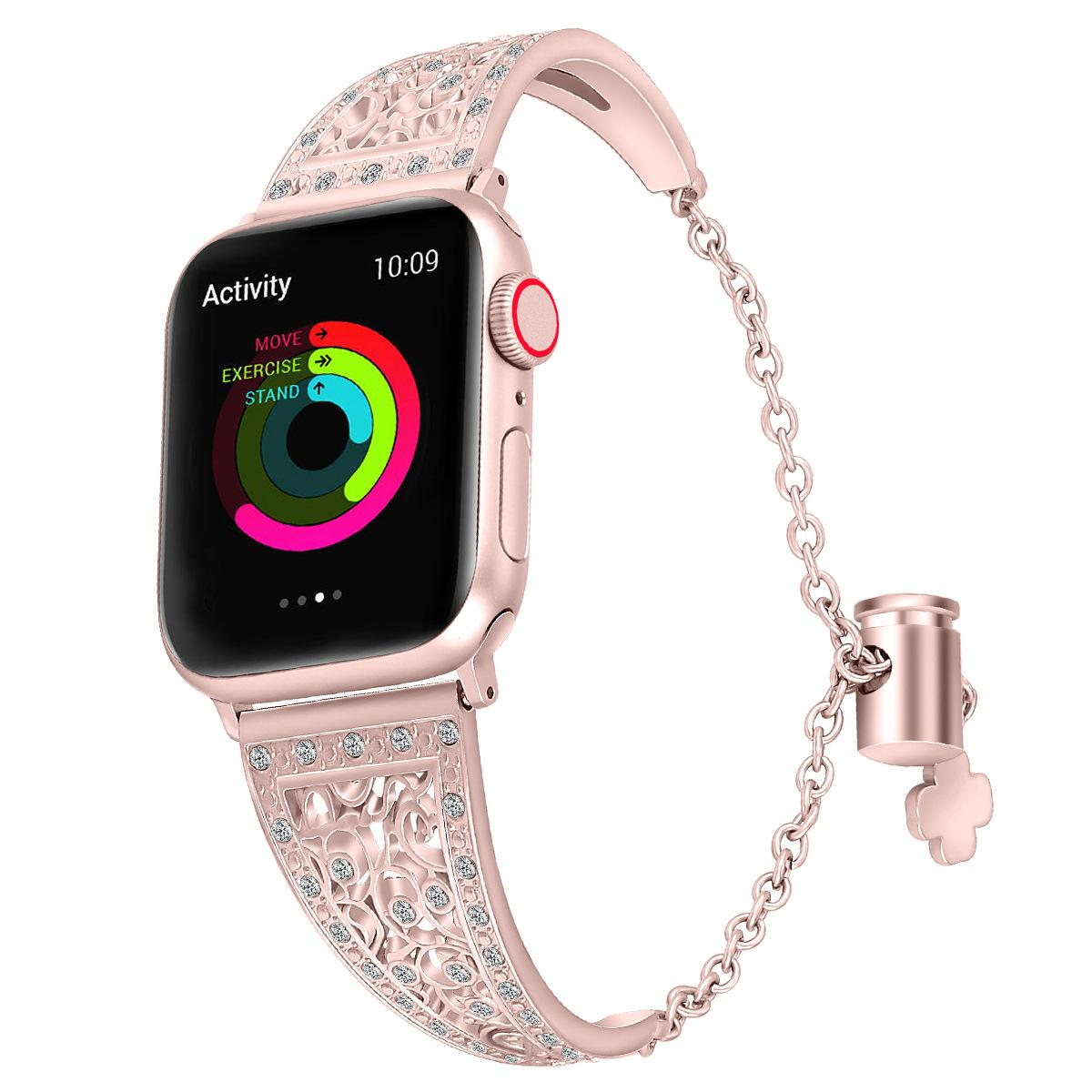 Women diamond bracelet watch Strap For Apple Watch Series 1/2/3/4/5 Metal Stainless Steel Band for iwatch 38/40/42/44mm metal watch straps