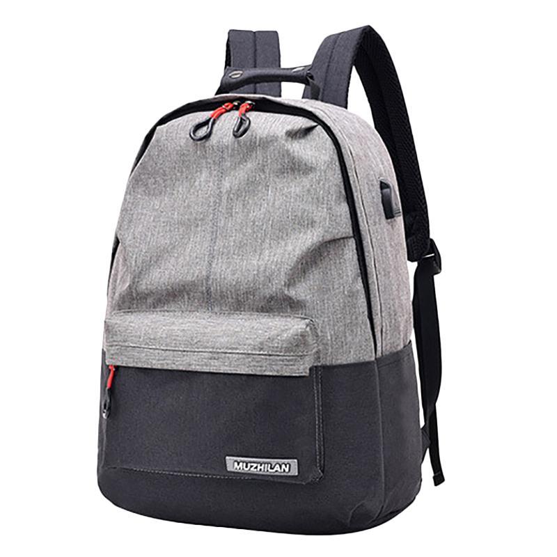 Женщины Schoolbag USB Школа Мужчины Рюкзак Колледж Новый Рюкзаки Bagpack Зарубежное Устройство Пакет Сумка Зарядка для ноутбука EREPP NotCl