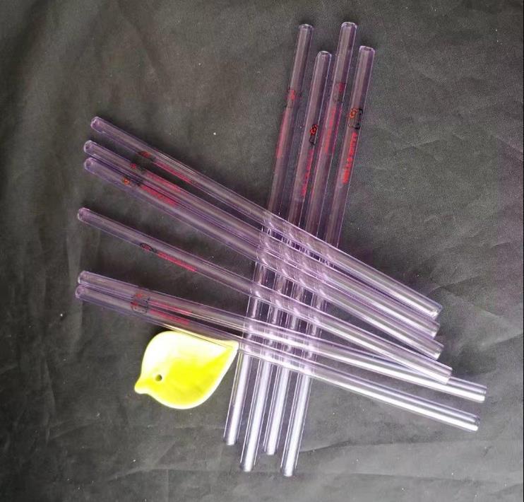 paja de cristal de 8 mm de longitud diámetro de 20 cm de la historieta, tuberías de agua bongs de vidrio hooakahs dos funciones para el aceite de Plataformas bongs de vidrio
