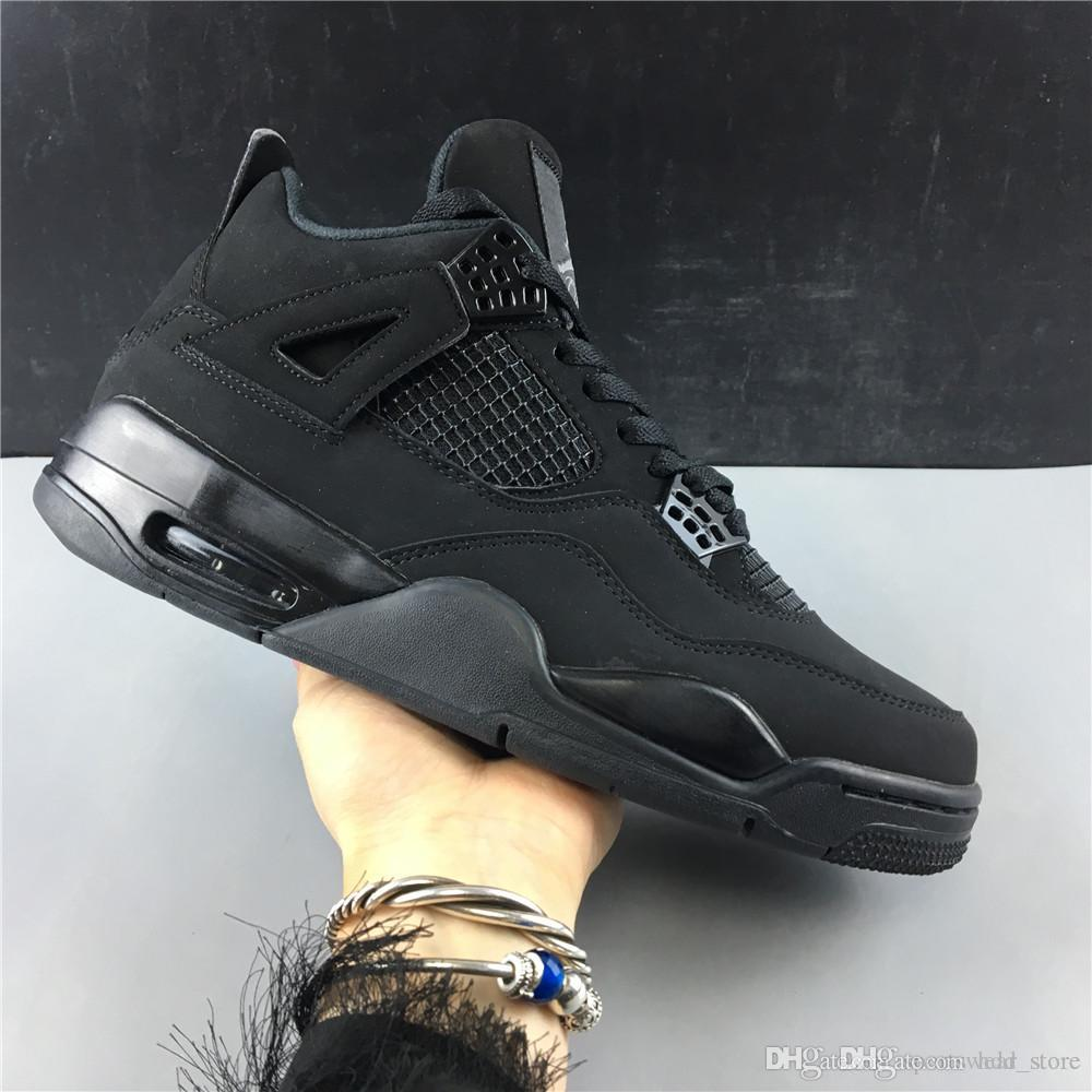 2020 Hottest Aj Review 4 Retro All Black Cat Original Basketball Shoes Size Us 7 13 With Box From Hdd Store 103 63 Dhgate Com