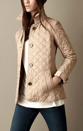 Nuovo Inverno London Brit diamante del rivestimento di autunno delle donne monopetto base Blazers cotone imbottito a maniche lunghe signore cappotto solido casuale Outwear