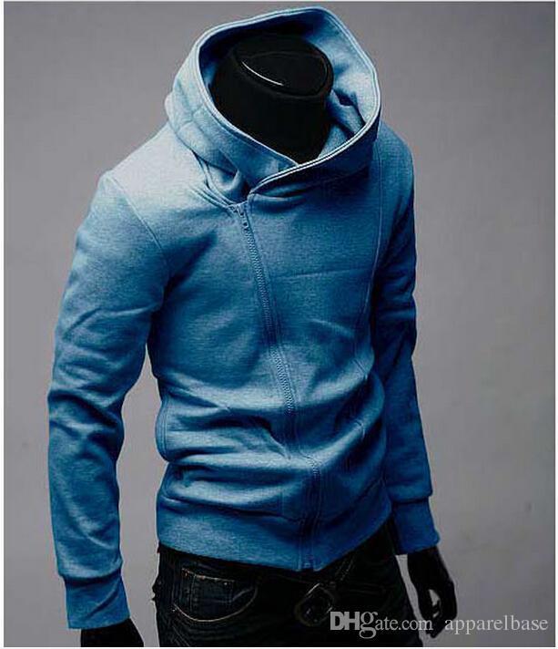Assassin 's Creed Men's Men 's Men's Slimming Squeeze 지퍼 스웨터 재킷 후드 티 자켓 남성 스웨터 무료 배송