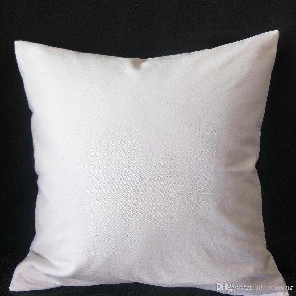15pcs Şablonlar / Resim / Nakış / HTV 280GSM kalın boş beyaz pamuklu yastık örtüsü saf beyaz pamuk dimi yastık kapağı 16x16in
