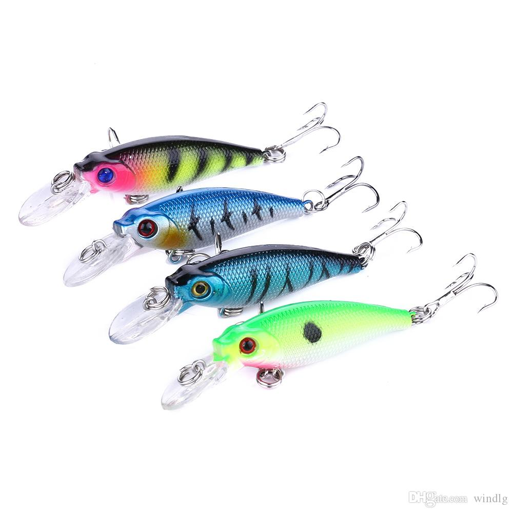 HENGJIA new Minnow fishing Lures 6.5cm 5G 8# hooks Hard bait Stick bait fishing lure 100pcs isca artificial 3d carp fishing tackle