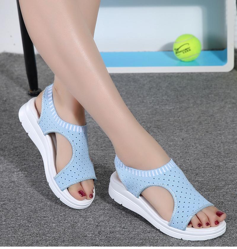 AGUTZM Женщины Сандалии 2019 лето новой платформы Сандал обувь дышащая Комфорт Корзина Женская Полуботинки Белый Черный