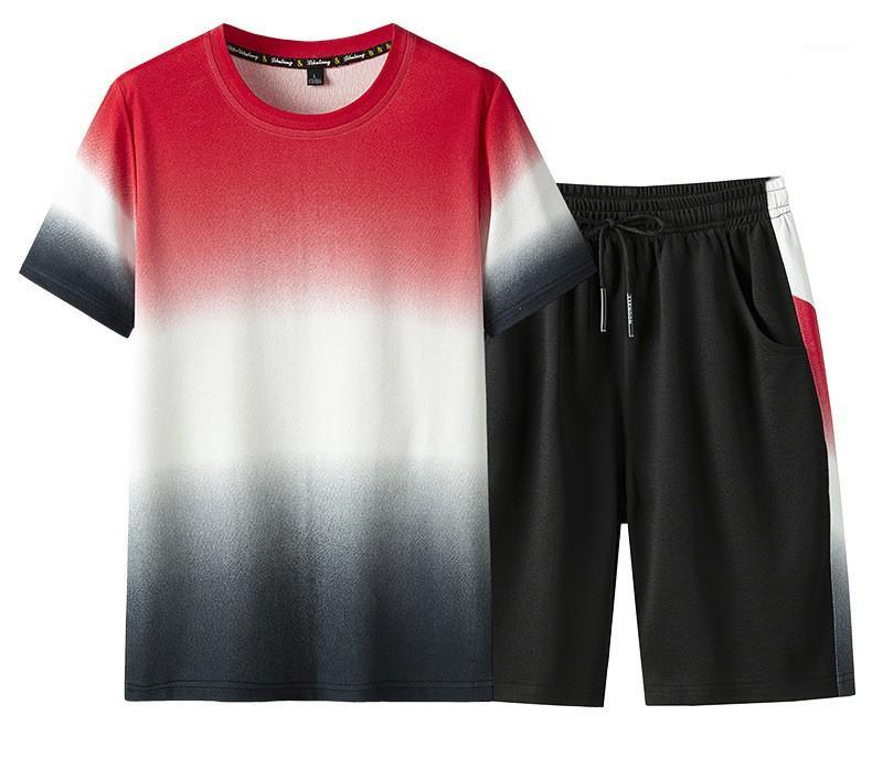 Rundhalsausschnitt Designer Kurzarm Herren Sets Fashion Solid Color Mens 2ST Abbindebatik Mens lose Tracksuits Gelegenheits