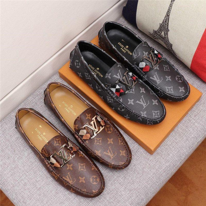 20SS lüks erkekler için adam ayakkabıları deri hakiki mokasenlerimi markalar 2019 gündelik ayakkabı erkekler itici ayakkabı chaussure homme cuir Sapato masculino