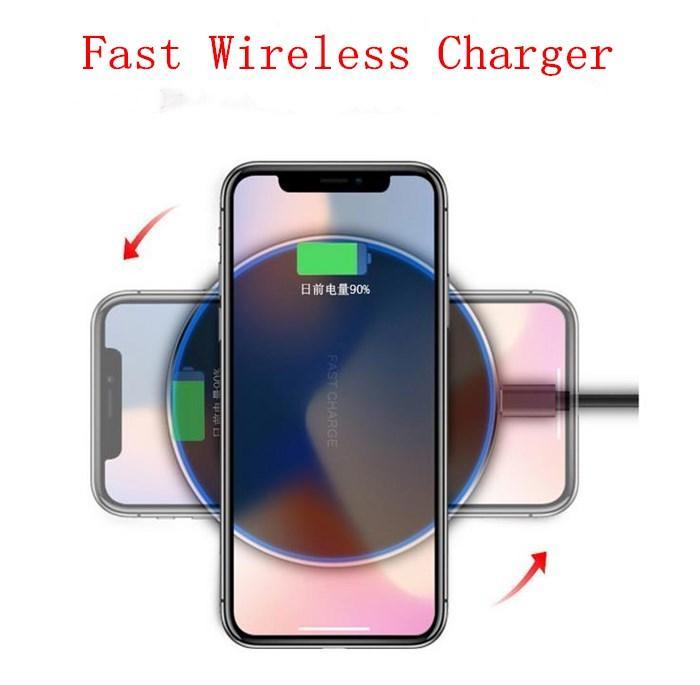 Nero dell'adattatore 10W caricabatterie wireless Oro Argento cellulare caricabatterie Compatibile con iPhone Samsung HTC Huawei