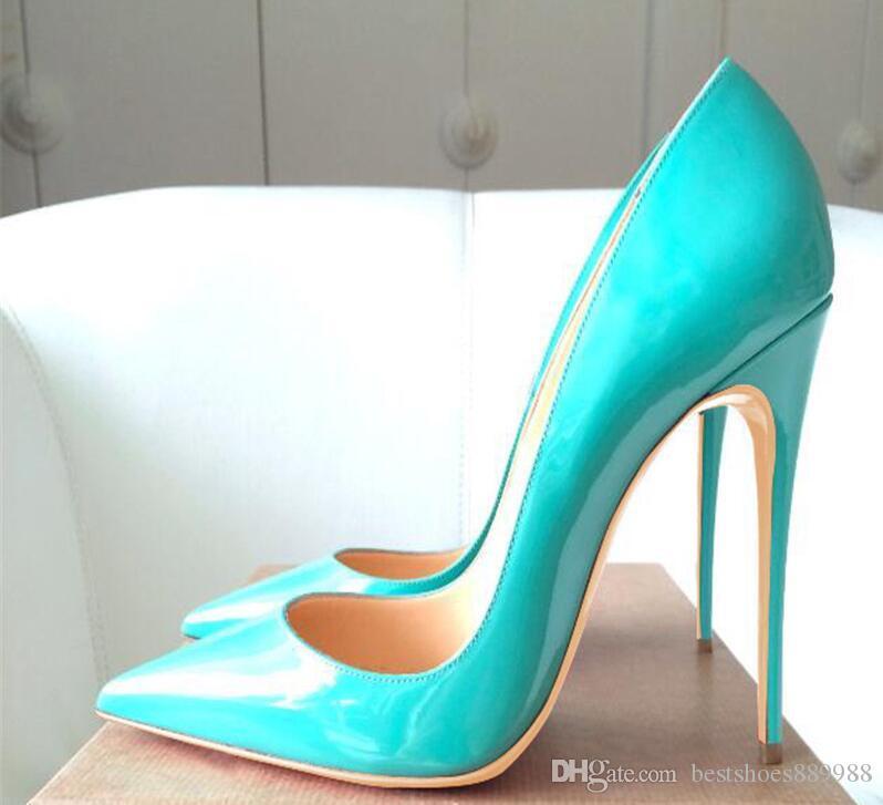 Zapatos de marca para mujer Bombas tacones altos rojos de fondo 12CM de las mujeres zapatos de tacones altos zapatos de boda Bombas talones negro desnudo