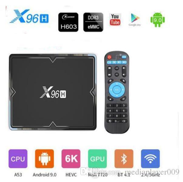 X96H smart tv box android 9.0 Allwinner H603 Quad-core 2G+16G/4G+32GB/4G+64GB 6K 2.4G&5GHz Wifi BT