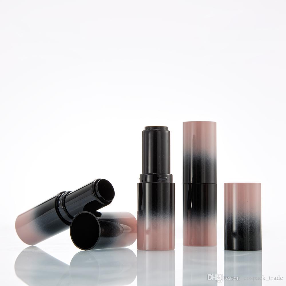 Новый продукт розовый черный градиент 12,1 мм бальзам для губ трубка овальная Оптовая продажа