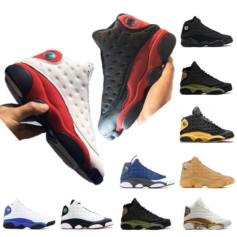 Con il contenitore di qualità 13s alta delle donne degli uomini dei pattini di pallacanestro 13 Chicago GS Hyper Royal Black Cat Flints Bred nuove donne uomini Jumpman Sneakers Sport