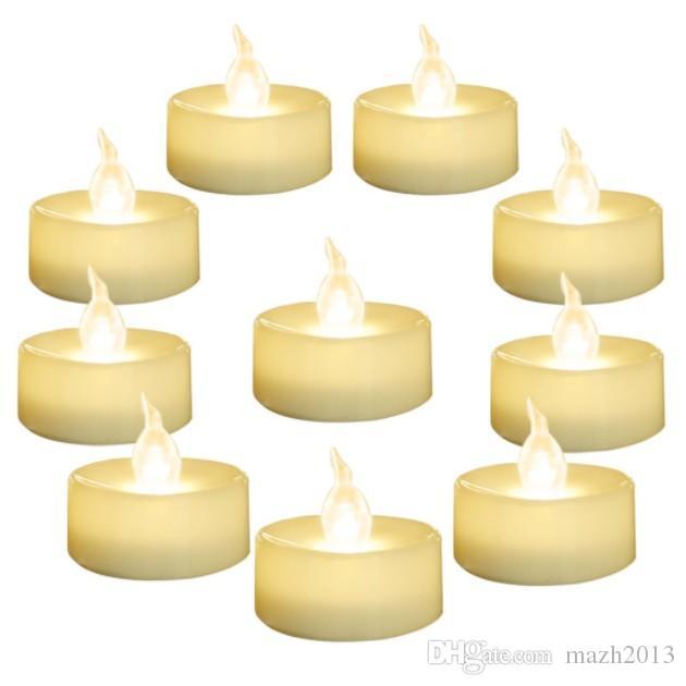 """SXI 24er Pack warmweiße Batterie LED Teelichter, flammenlose flackernde Teelichtkerze, Durchmesser 1,4 """"elektrische Fake-Kerze für Votive, Hochzeit"""