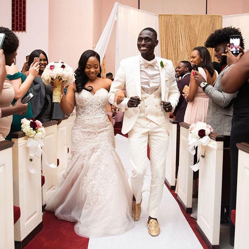 Costume Homme Ivory Abiti uomo 2020 sposa Giacca uomo sposo smoking Outfit 3 Pezzi Mariage Slim Fit Blazer Terno Masculino