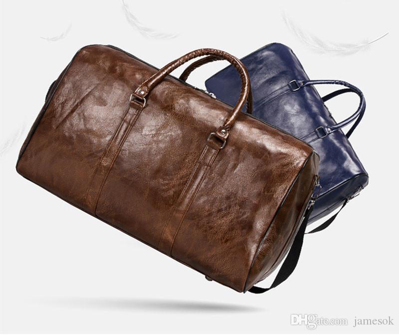 2019 mulheres novas dos homens da forma viajam o saco de duffle do saco, saco retro do esporte da capacidade das grandes bolsas do plutônio