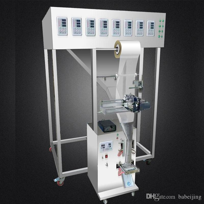 La mezcla Empaquetadora automática de gránulos de polvo máquina de rellenar multigrano té de la flor del condimento en polvo con varios cabezales de la máquina de embalaje