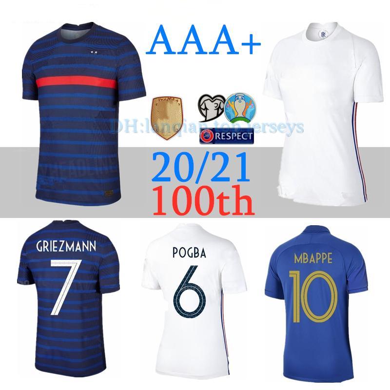 2020 2021 Deux étoiles jersey de football Special Edition Centenaire HENRY 20 21 MBAPPE GIROUD Griezmann ZIDANE hommes kits enfants sont des maillots de football