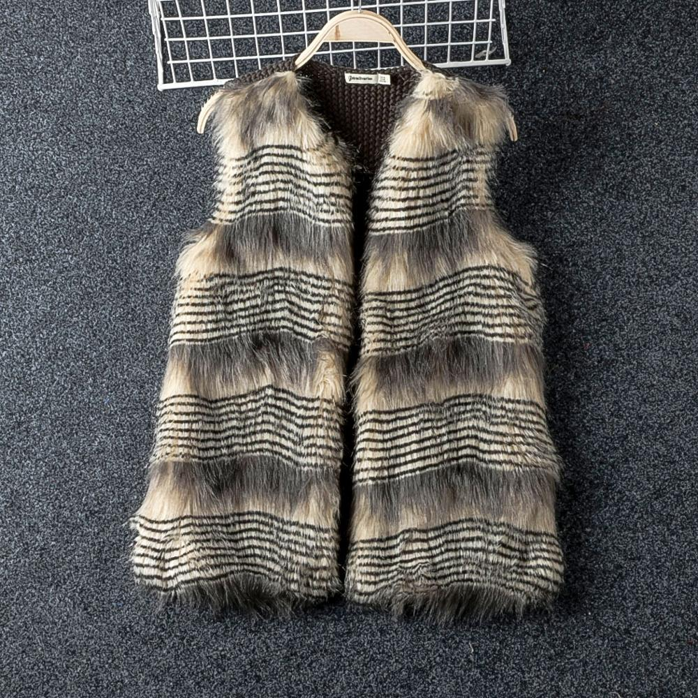 Clearance Deep Autumn Faux Fur Coat Women Knitted Back Patchwork Good Quality No Button Outerwear Coats For Woman Discount Coats