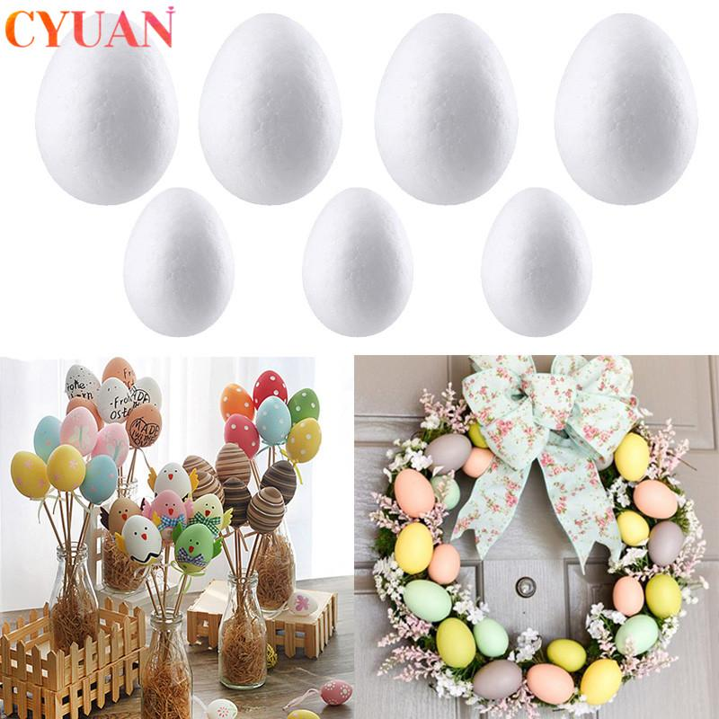 ome & Garden 50pcs Easter Decoration Foam Eggs DIY Modelling Polystyrene Styrofoam Eggs Ball Easter Party Decorations For Home Kids Gifts...