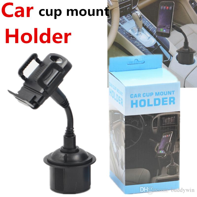Mobile Holder Universal Support voiture ajustable Gooseneck Porte-gobelet Cradle pour iPhone Pour Samsung S10 plus Phone Support Stand