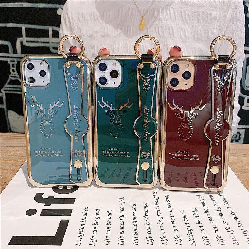 Творческое Elk телефон чехол для iPhone11pro Electroplated Wristband Tpu Защитные оболочки для 11Pro Max Пары Стиль 325