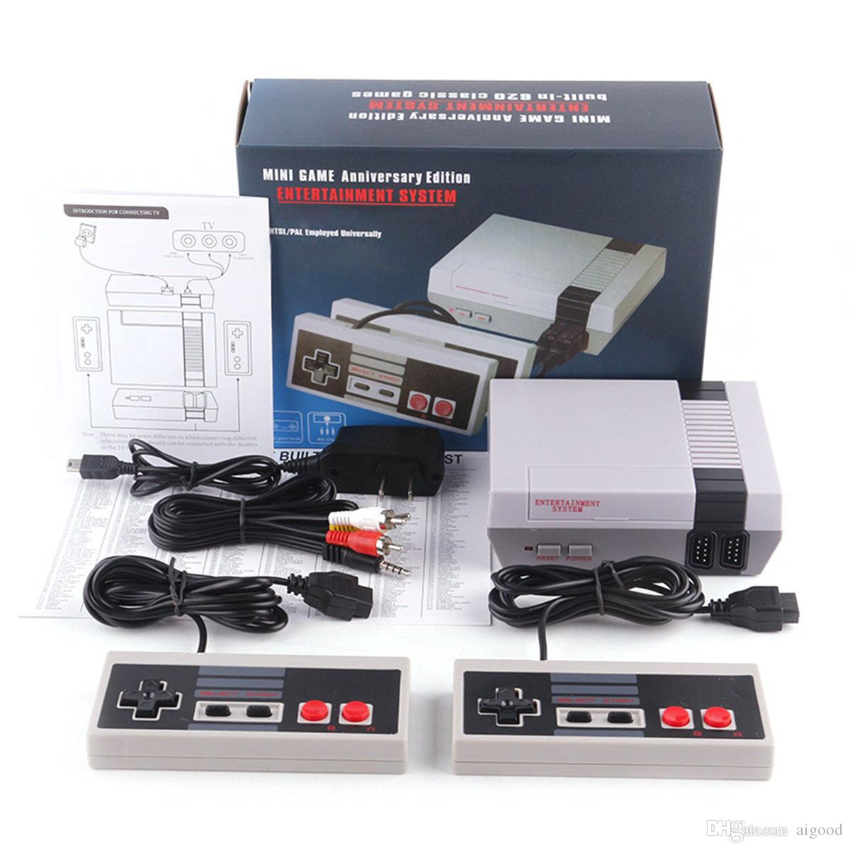 New Arrival Retro Classic Mini TV can store 620 500 Game Console Video Handheld for NES games consoles with retail boxs dhl