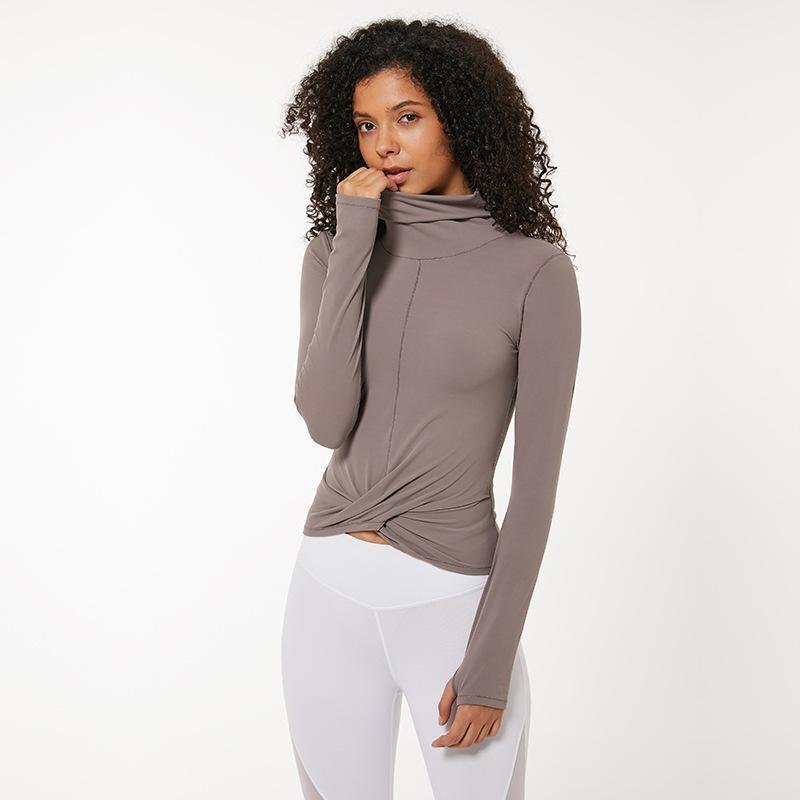 Sexy Frauen Sport Shirts Normallack-LU-82-hoch elastische Gym Yoga Top Lauf Breath Langarm T-Shirts Turnhalle Sportswear-Jacke