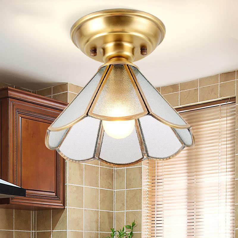 Americana durante todo el pasillo corredor de cobre luces moderno entrada de su casa minimalista enciende las luces del techo guardarropa llevó la luz de techo X94