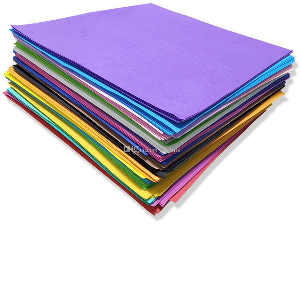 Hot Selling 50*50cm 1mm Thickness EVA Foam Papers Scrapbooking Crafts Paper Eva Sponge Foam Paper For Flowers Background DIY Gift Card Decor