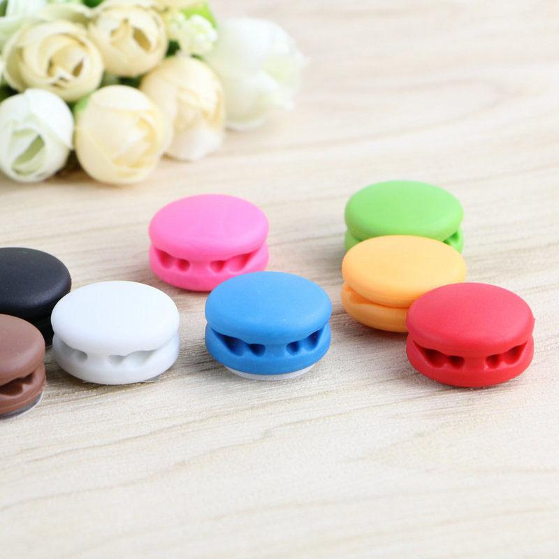 5PCS Cute Cable Protector Macaron Earphone Wrap Wire Cable Office Desk Organizer Headphone Wire Wrap Cord Winder Office Desk Set