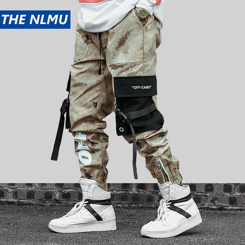 Hip Hip Street Männer Camouflage Jogger Hosen 2019 Männer Bänder Baumwolle Cargo Pant Hose elastische Taillen-Harem Hose Männer WJ216LY191112
