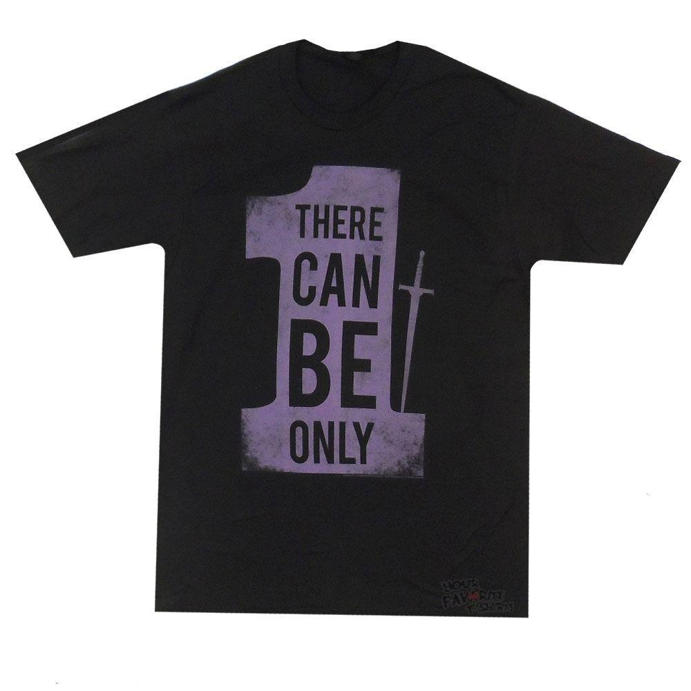하이랜더 영화는 라이센스가있는 성인 T 셔츠를 착용 할 수 있습니다. 멋진 캐주얼 프라이드 T 셔츠 남성 유니섹스 새 패션 Tshirt 루스 사이즈