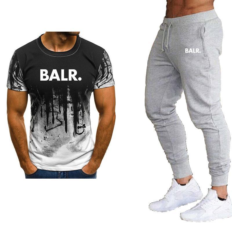 2020 nouveaux vêtements T-shirt + pantalon costume marque sportswear hommes T-shirt costume d'été occasionnels vêtements griffés mens hommes Les hommes de costume de camouflage