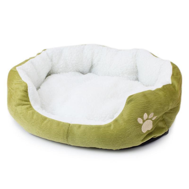 Pet Dog Bed Прогрев Dog House Мягкий материал Nest Корзинки Осень и зима теплая Kennel Для Cat Puppy S / L размер груза падения