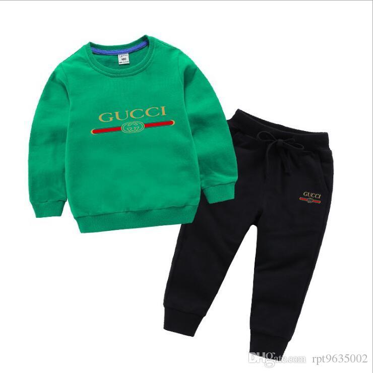 2020 весна осень дети малыш детские мальчики девочки одежда толстовки брюки 2 шт. / компл. наряд детские дети повседневная одежда спортивные костюмы