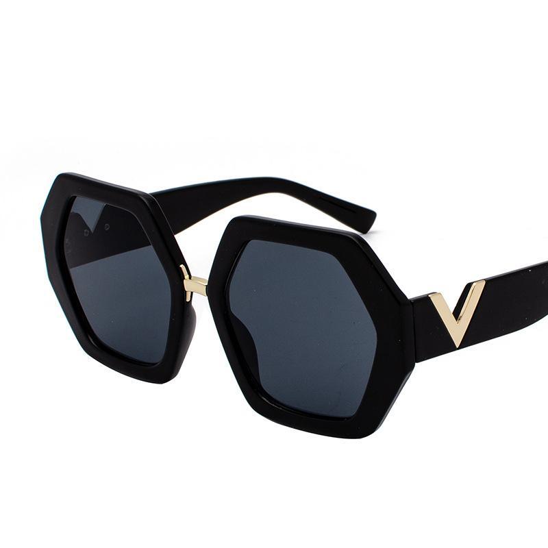 패션 여성 대형 선글라스 그라데이션 플라스틱 여성 태양 안경 UV400 렌즈 드 Sol Mujer