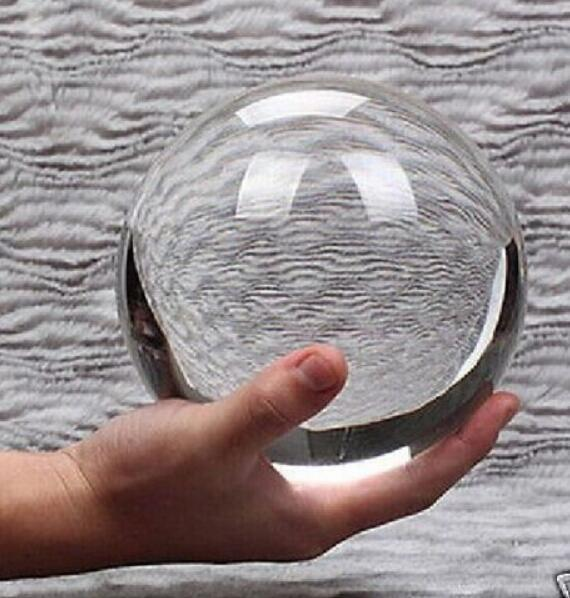 New ++ + 100mm+Stand Asian Rare Natural Quartz Clear Magic Healing Crystal Ball Sphere