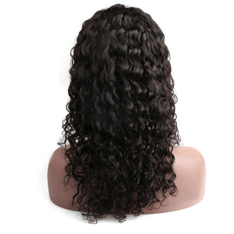 Human Hair Lace Wigs Indian Hair Lace Front Wigs For Black Women Medium Cap Deep Wave Side Part Natural Color Bellahair